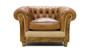 Sillón marrón chesterfield Chesire