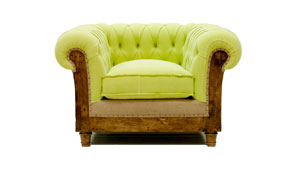 Sillón verde chesterfield Chesire