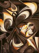 Cuadro canvas abstracto uno di due
