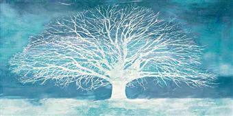 Cuadro canvas moderno aquamarine tree