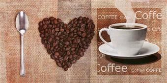 Cuadro canvas figurativo i love coffee
