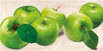 Cuadro canvas figurativo green apples