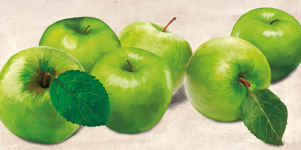 Cuadro canvas green apples