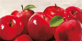 Cuadro canvas figurativo red apples