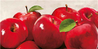 Cuadro canvas figurativo red apples