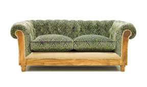 Sofá verde chesterfield Chesire