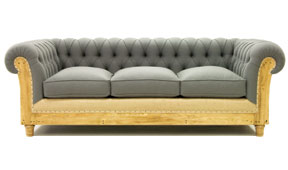 Sofá 3 plazas gris chesterfield Chesire
