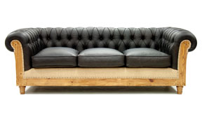 Sofá 3 plazas negro chesterfield Chesire