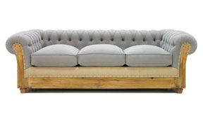 Sofá cama gris chesterfield Chesire