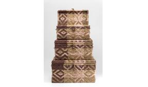 Cajas coloniales Gobi set de 3 - Baules Coloniales y Rústicos - Muebles Coloniales y Muebles Rústicos