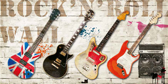 Cuadro canvas moderno rock and roll wall