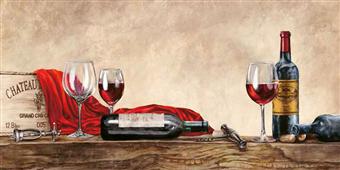 Cuadro canvas figurativo grand cru wines