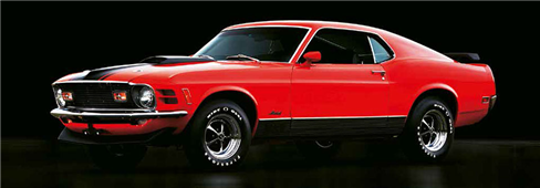 Cuadro canvas ford mustang mach 1