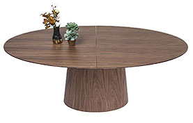 Mesa Extensible Benvenuto nogal - Mesas de Comedor de Diseño - Muebles de Diseño