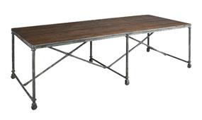 Mesa de comedor industrial Aquila
