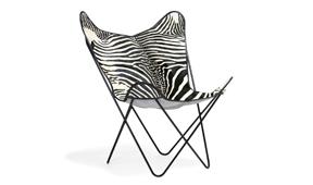 Silla piel natural BKF Zebra Cow - Sillas y Sillones de Diseño - Muebles de Diseño