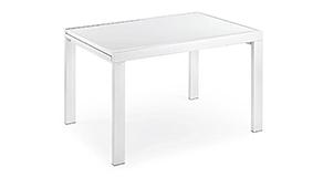 Mesa de comedor extensible blanca Oregon