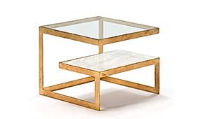 Mesas de noche de dise o en cosas de arquitectos cosas de for Marmol blanco cristal