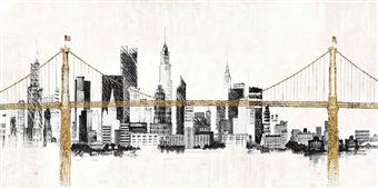 Cuadro canvas paisaje bridge and skyline