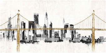 Cuadro canvas paisaje bridge and skyline