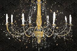 Cuadro canvas figurativo grand chandelier black