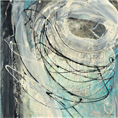 Cuadro canvas abstracto twister
