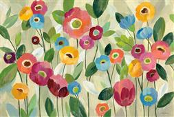 Cuadro canvas flores fairy tale flowers