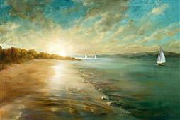 Cuadro canvas paisaje coastal glow