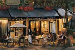 Cuadro canvas paisaje la brasserie