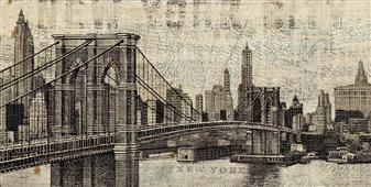 Cuadro canvas vintage new york - Cuadros serigrafiados - Objetos de Decoración