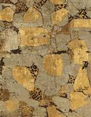 Cuadro canvas abstracto piedra dorada I