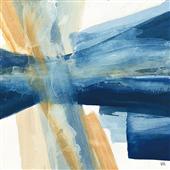 Cuadro canvas abstracto indigo I