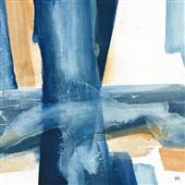Cuadro canvas abstracto indigo V