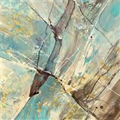 Cuadro canvas abstracto blue water II