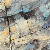 Cuadro canvas abstracto the rocks crop