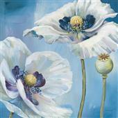 Cuadro canvas flores danza azul II