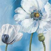 Cuadro canvas flores danza azul III