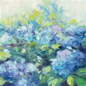 Cuadro canvas flores brillante hydrangea II