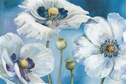 Cuadro canvas flores blue dance I