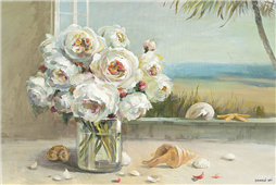 Cuadro canvas flores coastal roses