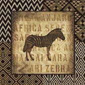 Cuadro canvas figurativo african wild zebra