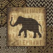 Cuadro canvas figurativo african wild elephant