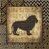 Cuadro canvas figurativo african wild lion