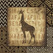 Cuadro canvas african wild giraffe - Cuadros serigrafiados - Objetos de Decoración