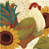 Cuadro canvas moderno spice roosters I