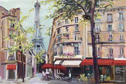 Cuadro canvas paisaje springtime in paris