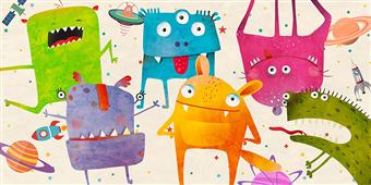 Cuadro canvas infantil alien class