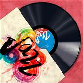 Cuadro canvas moderno vinyl club jazz