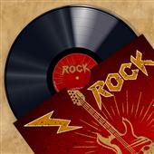Cuadro canvas moderno vinyl club rock
