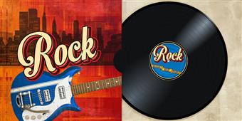 Cuadro canvas moderno rock collection
